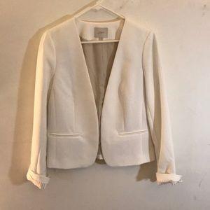 LOFT white blazer. Size 10. Like new.